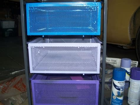 spray painting units turn in baskets from ikea lennart drawer unit plus spray