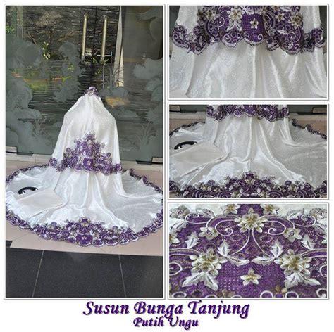 Mukena Bunga Tanjung 5 jual mukena susun bunga tanjung putih ungu toko mukena cantik