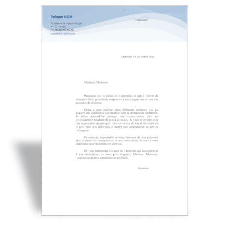 Lettre De Motivation De Journaliste lettre de motivation journaliste ii cv word
