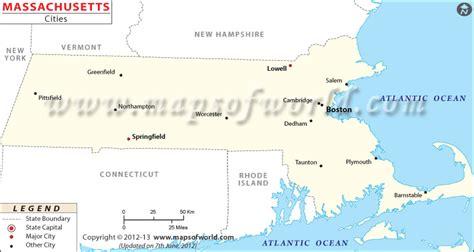 map of mass towns cities in massachusetts massachusetts cities map