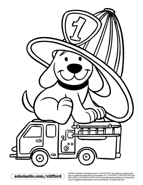 clifford autumn coloring pages firedog clifford coloring page children s stuff