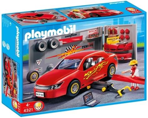 Playmobil Tuning Auto by Playmobil 4321 Car Repair And Tuning Shop 163 29 99