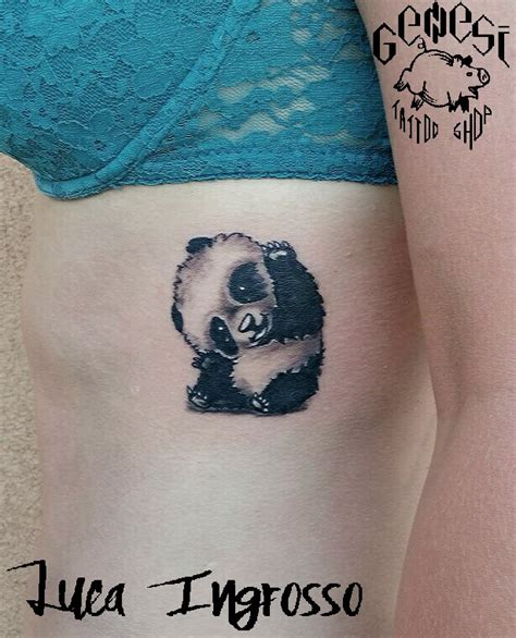 tattoo panda significato piccolo panda black white by genesi tattoo shop
