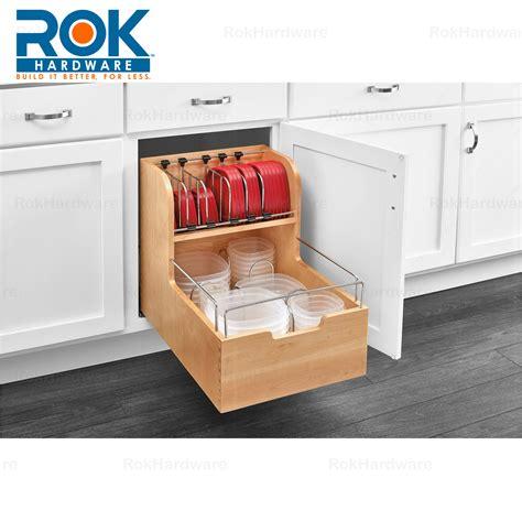 Kitchen Cupboard Organizers - rev a shelf kitchen cabinet food storage container 24
