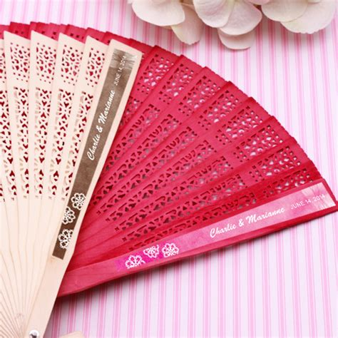 personalized fans for weddings doily personalized sandalwood fans palm and bamboo