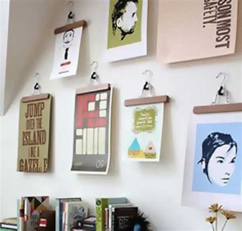 creative ways to hang posters designing with clutter using creative methods the