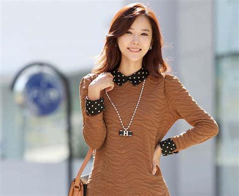 blus wanita korea modis model terbaru jual murah import kerja