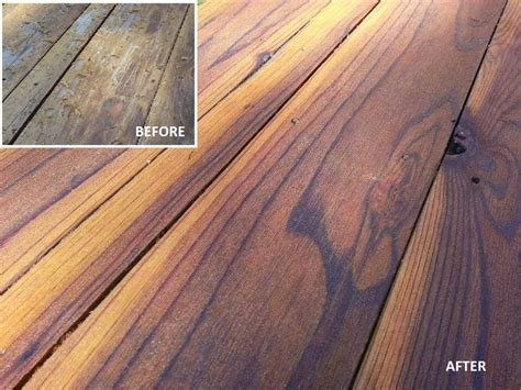 superdeck transparent stain cedar tone 1911 on redwood deck thank you decksteriors of