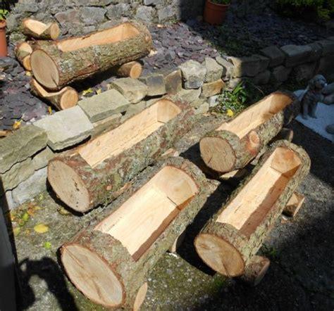 the 25 best log planter ideas on
