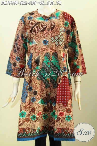 Istimewa Pakaian Wanita Dress Mimi dress batik big size baju batik trusan spesial untuk wanita gemuk pakaian batik istimewa tanpa