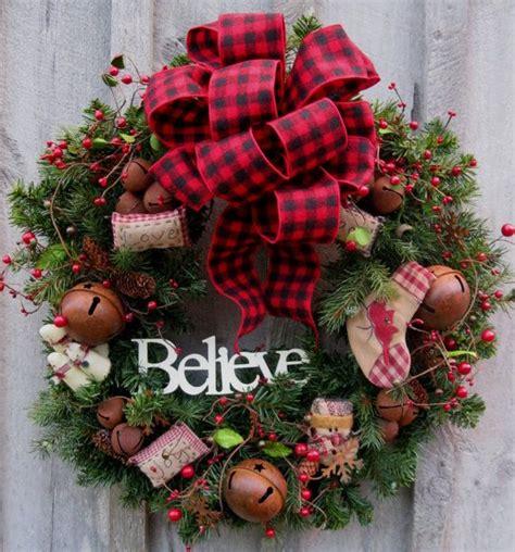 christmas wreath holiday wreath woodland country snowman jingle