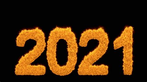 burning 2020 year with numbers made of flames burning 2020 year with numbers made of flames or