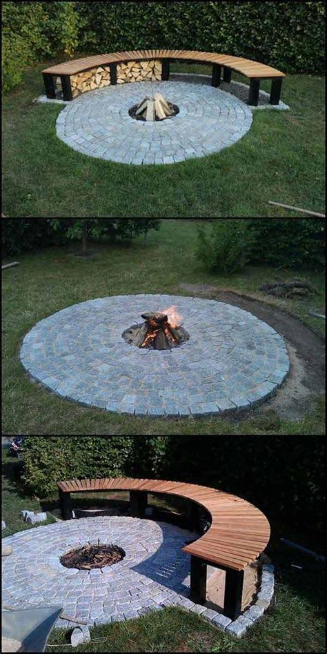 Build Round Firepit Area For Summer Nights Relaxing Firepit Area