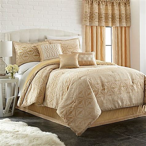 gold comforter set full buy ecliptic 7 piece full comforter set in gold from bed