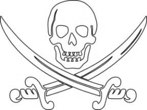 Pirate Swords Outline Clip Art At Clkercom  Vector Online sketch template