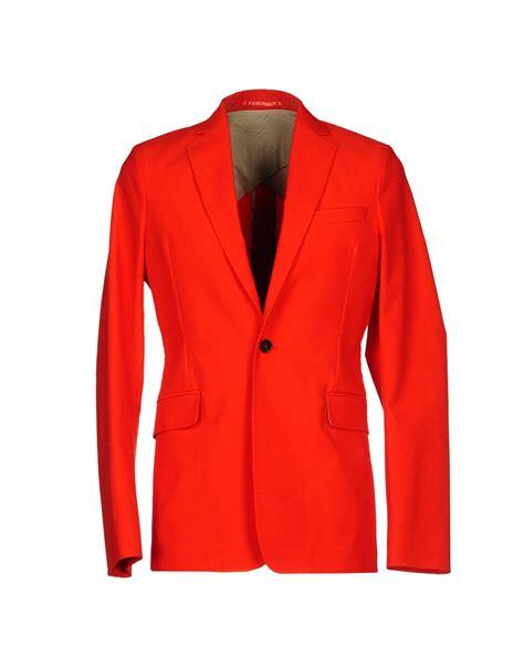 Blazer Orange acne blazer in orange for save 58 lyst