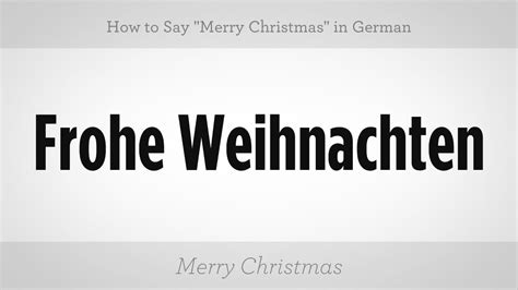 merry christmas  german german lessons youtube