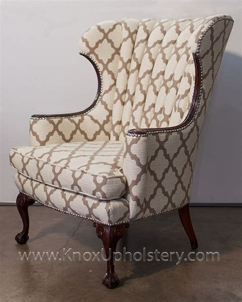 Upholstery Ideas For Wing Chairs by 1000 Images About Wingback Chairs On Ottomans