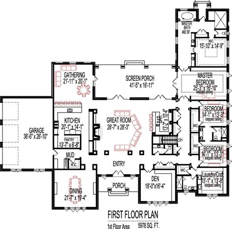 bedroom floor plans over 5000 house plans ranch house plans 5000 square feet house plans