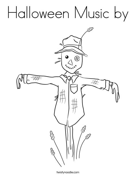 Halloween Coloring Pages Music | halloween music by coloring page twisty noodle