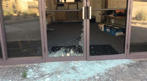 Security Footage Shows Goat Ramming Glass To Impress Lady Glass Door Shattered