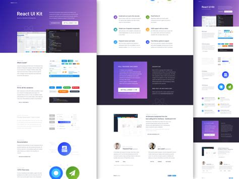 React Symbols Landing Page Photo Gallery For Website Android Ui Design Templates Goal List React Ui Templates