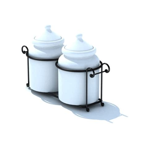 black ceramic kitchen canisters ceramic kitchen storage canisters in black 3d model