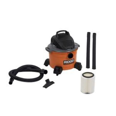 ridgid 6 gal 3 5 peak hp vac wd0670 the home depot