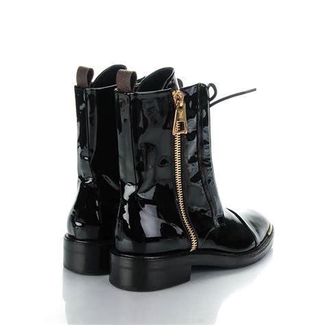 louis vuitton combat boots louis vuitton patent calf monogram macadam ranger combat
