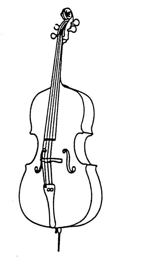 coloring pages of string instruments cello art clipart best clipart panda free clipart images