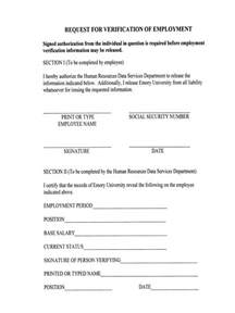 Authorization Letter Employment Verification Doc683913 Previous Employment Verification Form Baby Certificate Maker Salary Slip Exle