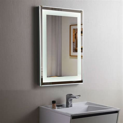led mirrors for bathrooms decoraport vertical led illuminated lighted bathroom wall