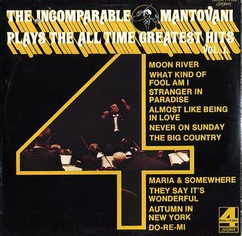 mantovani greatest hits the incomparable mantovani plays the all time greatest