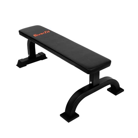 flat fitness bench fitness flat weight bench black