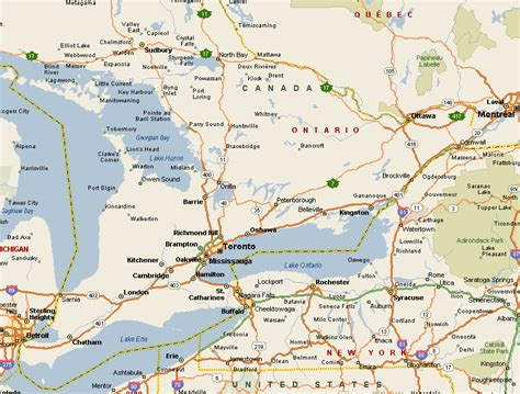 Find Ontario Map Of Ontario