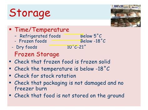 at what temperature should storage rooms be kept food production system
