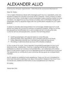 Bus Driver Cover Letter Examples for Transportation