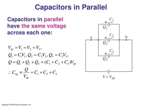 charge on capacitors in parallel ppt capacitance and dielectrics powerpoint presentation id 3390244