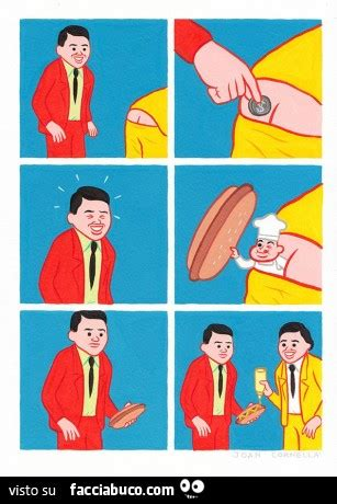 nel sedere monetina nel sedere esce un panino su cui mettere la