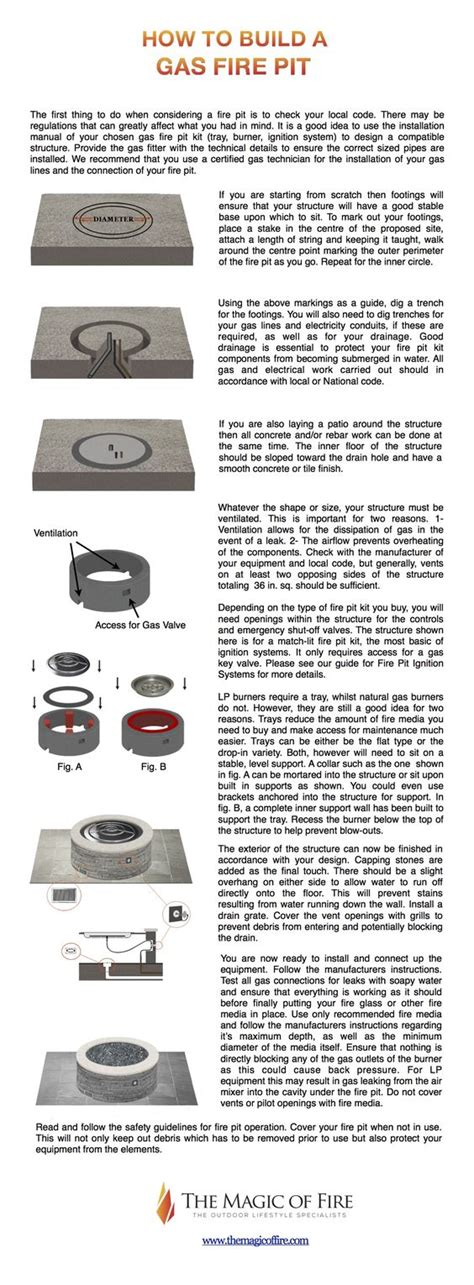 how to build a gas firepit how to build a gas firepit outdoor how to build a gas