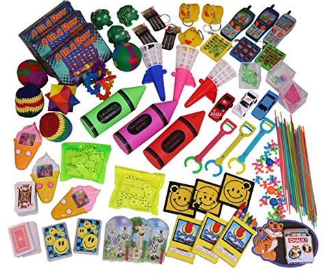 Novelty Giveaways - jumbo party favors pack of exciting toys prizes and small games beloved by kids