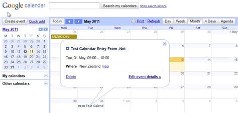 Calendar Api C Managing Calendar Events Using Net Raymund