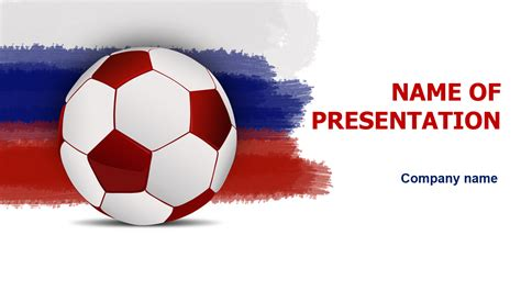free soccer powerpoint template free rusia soccer powerpoint template for