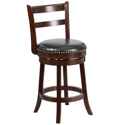 26 Seat Height Counter Stool by 26 Cappuccino Wood Counter Height Stool With Black