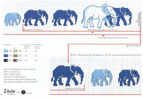punto croce bagno asciugamano bagno punto croce con elefanti 2