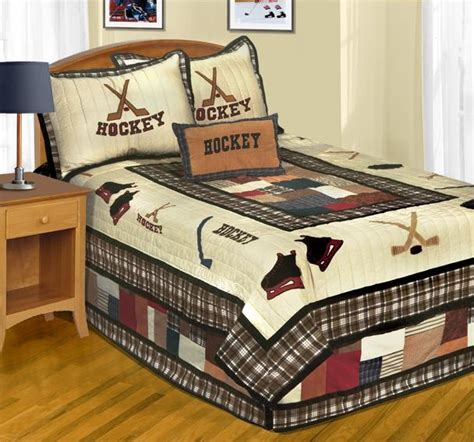 hockey bed hockey bedding decorating pinterest cas quilt and