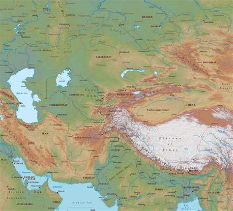 map of central asia map central asia roundtripticket me
