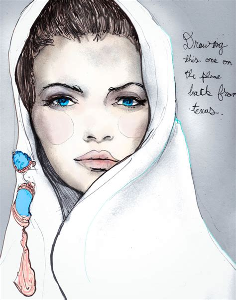 fashion illustration drawing faces yesterdays airplane drawing igor andr 233