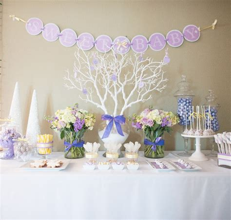 Winter Baby Shower Ideas by Winter Themed Baby Shower Table