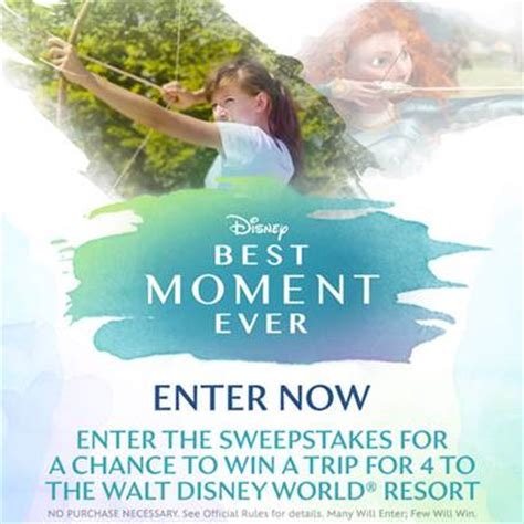 Easiest Sweepstakes To Win - disney best moment ever sweepstakes win a trip for 4 to walt disney world